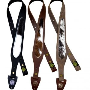 60mm Tapered Genuine Leather Cowhide Inlay Gun Sling