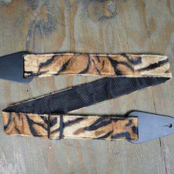 Black & Brown Lion Faux Fur Guitar Strap