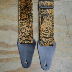 Brown with Black Spots Faux Fur Guitar Strap