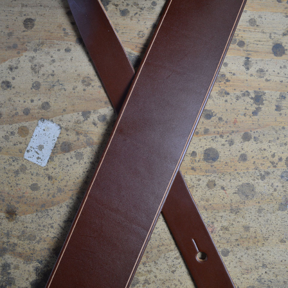 Brown 2.5″ Leather Guitar Strap
