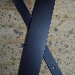 Black 2.5″ Leather Guitar Strap