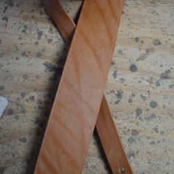 Tan 2.5″ Leather Guitar Strap