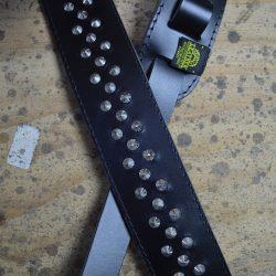 Black 2.5″ Leather Studded Guitar Strap