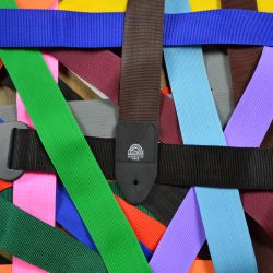Coloured Webbing Guitar Straps