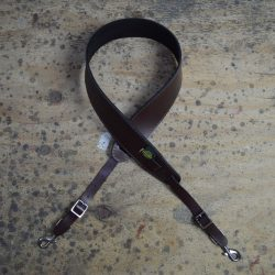 Brown Leather Banjo Cradle with Hooks