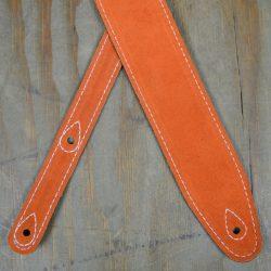Orange Double Suede Guitar Strap