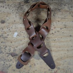 Brown Link Leather Guitar Strap