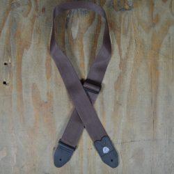 Brown Webbing Guitar Strap