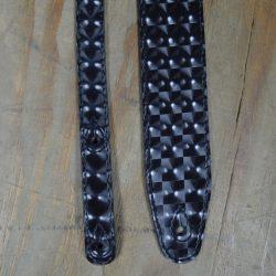 2.5″ Suede Backed Black Hologram Guitar Strap