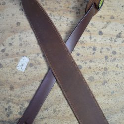 2.5″ Sueded Brown Soft Leather Guitar Strap