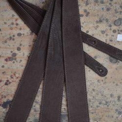 2.5″ Sueded Dark Brown Relic Soft Leather Guitar Strap