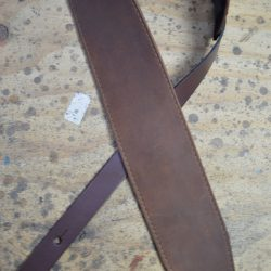 3.5″ Sueded Brown Soft Leather Guitar Strap