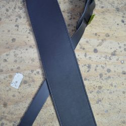 3.5″ Sueded Black Soft Leather Guitar Strap