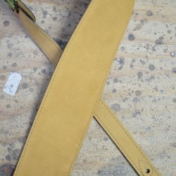 3.5″ Sueded Tan Soft Leather Guitar Strap