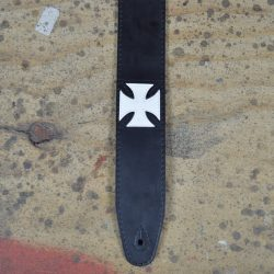 Maltese Cross Leather Inlay Strap