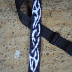 Celtic White Tattoo Rag Guitar Strap