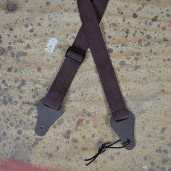 Brown Webbing Ukulele Strap