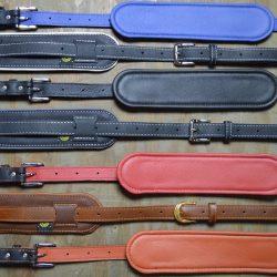 Vintage Padded Leather Guitar Straps