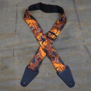 Aboriginal Art Guitar Strap – Kangaroo Outback