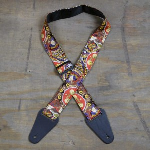 Aboriginal Art Guitar Strap – Beetles