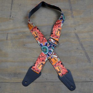 Aboriginal Art Guitar Strap – Kangaroo Ground