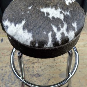 Genuine Hair On Cowhide Leather Guitar Stool