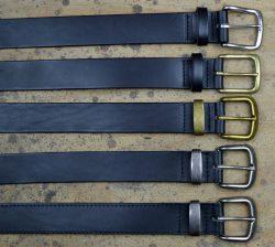 Handcrafted Black Leather Belt