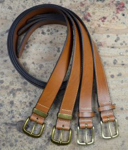Handcrafted Tan Leather Belt